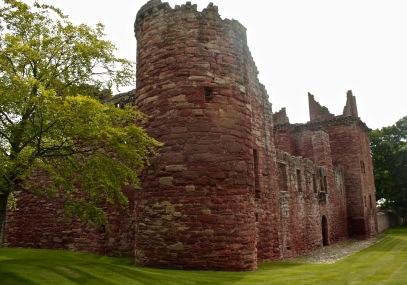 Edzelle Castle in County Angus, Scotland